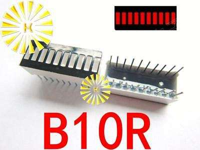 K 50PCS X 10 Segment Red Digital Tube LED Bar 10*25mm ^mf0