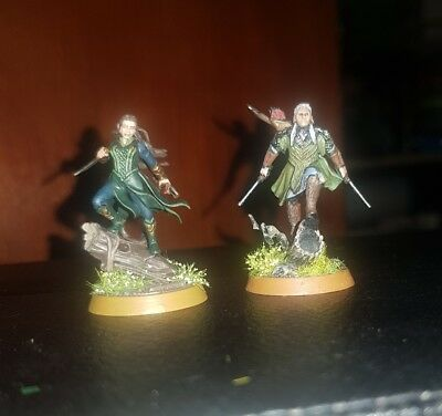 The Lord of the Ring The Hobbit LOTR Mirkwood Elves Legolas Tauriel well painted