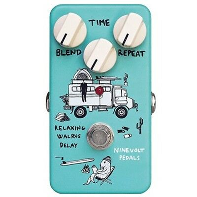 NINEVOLT PEDALS Relaxing Walrus Delay Guitar Effects Pedal