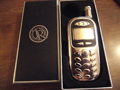 "Unusual Stainless Steel ""Cell Phone"" Shaped FLASK, New, in Original Store Box"