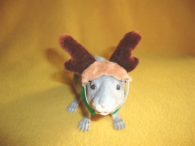 Reindeer Costume with Shimmery Brown Antlers for Rat from Petrats