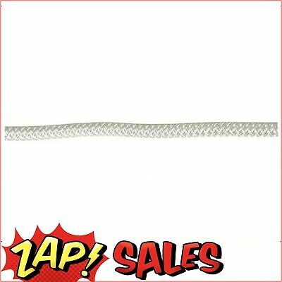 Double Braid-Polyester Rope,8mm,White Fleck,Euro,100m Roll