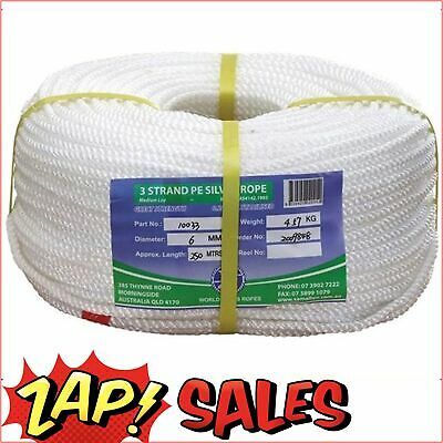 12% Off! Standard Quality Polyethylene Staple (Silver Ropes) - 20mm Three Strand
