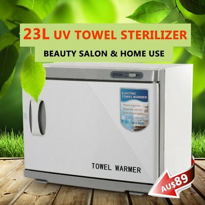 UV Towel Sterilizer Warmer Cabinet Disinfection Heater Hot Hotel Salon Spa 23L