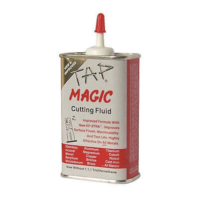 TAP MAGIC Cutting Oil,4 oz,Can, 10004E, Yellow