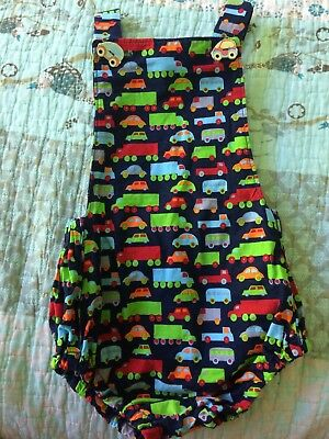 Baby Boy Girl Twin Overalls Romper  Cute Cars