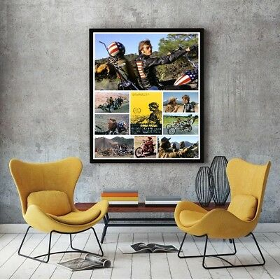 "Large Size 24""x32"" Easy Rider Collage Poster - 1969 Cult Classic Motorcycle Film"