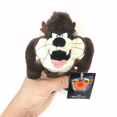 Taz Tasmanian Devil Looney Tunes 5 inches Mini Bean Bag Plush 1999 Warner Bros.