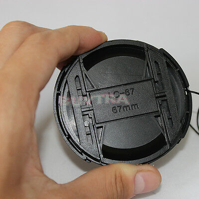 67mm Center Pinch Snap on Front Cap For Sony Canon Nikon Lens Filters 67mm*v*