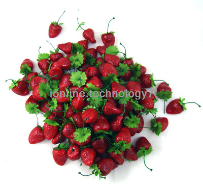 30x fake strawberry artificial fruit faux food house kitchen party BBQ decor red