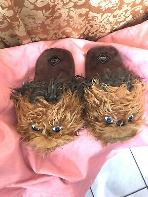 Star Wars The Force Awakens CHEWBACCA WOOKIE FUR Slippers -- Large 10-11