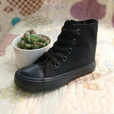 Kids Canvas Casual Shoes Boys Girls High Top Sneakers Running Breathable Walking