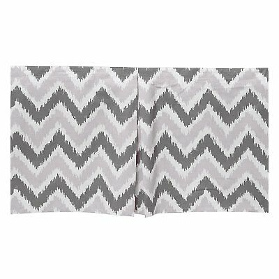 Bacati Mix and Match Zigzag Ikat Crib Skirt, Grey