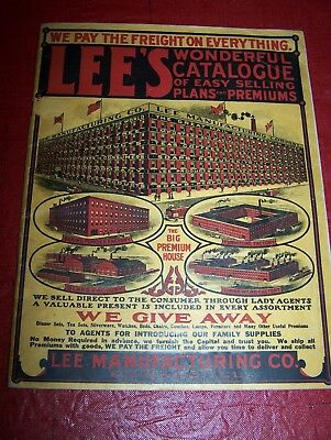 1911 Lee's  Manufacturing, Chicago, Il~Catalogue~Selling Plans/sales Premiums