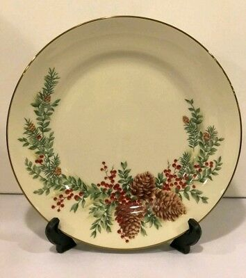 "Lenox Williamsburg Boxwood and Pine Dinner Plates 11 1/4""  ( New with tag)"