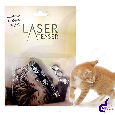 Laser Teaser Pen Flash Pointer Cat Kitten Fun Play Toy Exercise Mouse Projecting