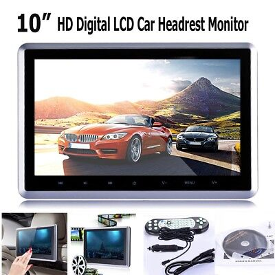 "10"" HD Digital LCD Screen Car Headrest Monitor DVD/USB/SD Player IR/FM/Speaker"