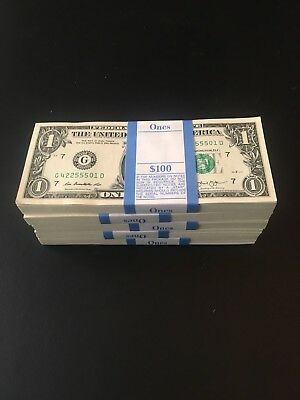 (10 $1 bills) One Dollar Bills-UNCIRCULATED, SEQUENTIAL $1 Bills *LIMITED TIME*