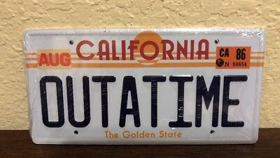 Back to the Future / OUTATIME + 2015 STAMPED License Plate Combo Promo Mini