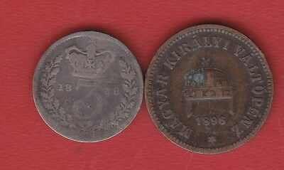 Hungary 2  Filler 1896  Greatbritain  Coin Silver