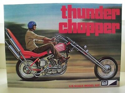 Mpc - Thunder Chopper Motorcycle - 1/8 Model Kit (Contenst Sealed)