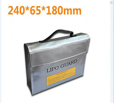 Fireproof Explosionproof RC LiPo Battery Safety Bag Safe Guard Charge Sack L