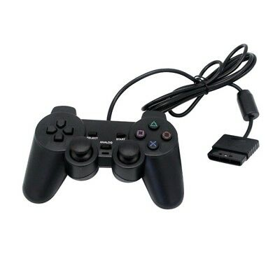 Video Game  Controller For PS2 Kids Black Wired Gaming Controller Joypad Gamepad
