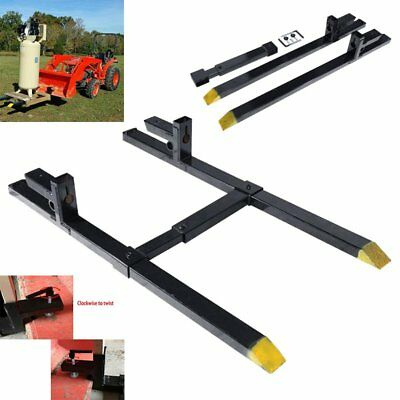"Pro 30"" 1500lbs capacity Clamp on Pallet Forks w/Stabilizer Bar Tractor chain"