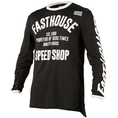 NEW Fasthouse 2018 MX Gear L1 Classic Vented Vintage Black Motocross Jersey