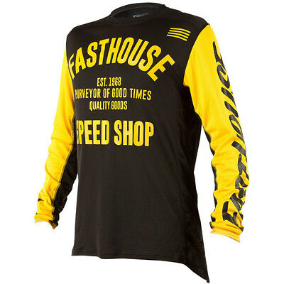 NEW Fasthouse 2018 MX Gear L1 Classic Vented Black Yellow Motocross Jersey