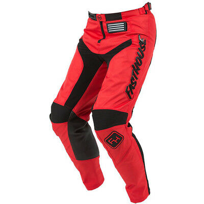 NEW Fasthouse 2018 MX Gear Grindhouse Red Adult Dirt Bike Motocross Pants
