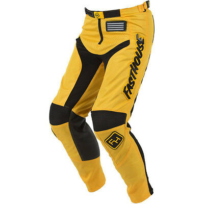 NEW Fasthouse 2018 MX Gear Grindhouse Yellow Adult Dirt Bike Motocross Pants