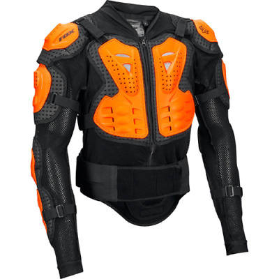New 2018  Fox Titan Sport  Mx Body Armour Jacket Suit - Black/orange