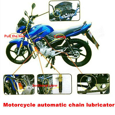Motorcycl Chain Oil Lube Lubricator Maintenance Cleaning Tool Metal Case no Oil