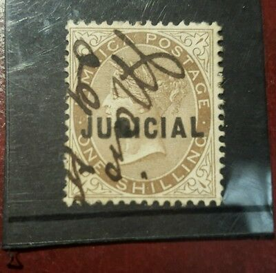 stamp - jamaica  1860 - 1s - jamaica court official overprint  used  -   Lot 794