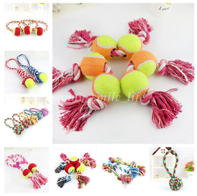 1Pc Puppy Dog Pet Toy Chew Knot Braided Cotton Rope Bone Teeth Training Cleaning