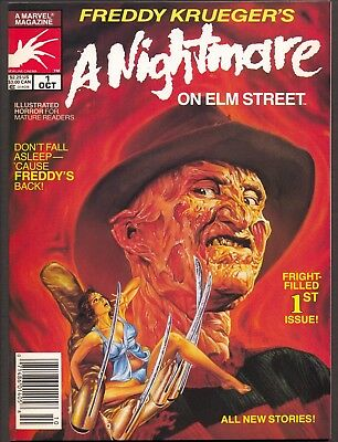 Freddy Krueger's A Nightmare On Elm Street #1 (1989)~Marvel Magazine~NM