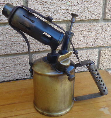 Vintage Brass Blow Torch, Stamped Companion Brand, Made In Australia, Opt . 3