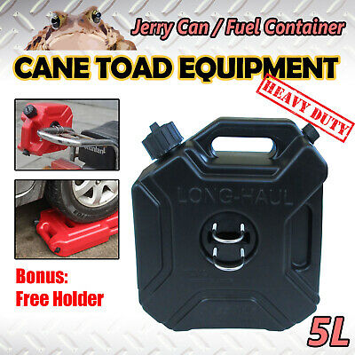 5L Black Jerry Can Spare Container With Free Holder Fuel Container Heavy Duty