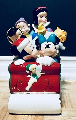 Disney Collection, Mickey And Friends Christmas Cookie Jar Collectible Jar