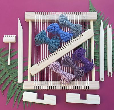 "Weaving Loom Craft Kit - Hand Made "" Snowy Owl - Natural "" Large Deluxe Steiner"