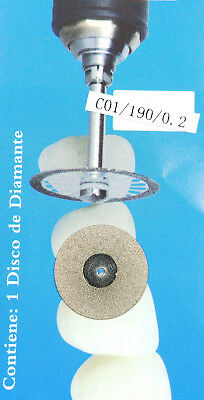 Dental Diamond Disc Wheel C01 19X0.2mm For Porcleain Teeth Cutting Polishing