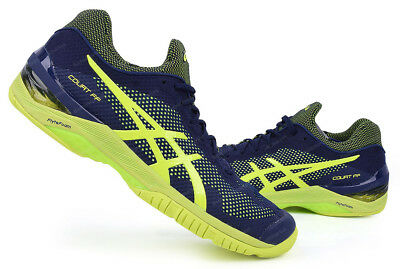 Asics Court FF Men's Tennis Shoes Racket Racquet Navy Yellow GEL E700N-4907