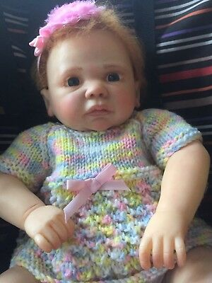 """Heavily ReduceReborn Real Born OOAK Baby Girl  Doll Baby """"Amber"""" Aus Made."""