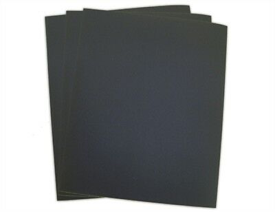 Silicon Carbide wet/dry Sandpaper Grits 220/320/400/600 Size 9 x11