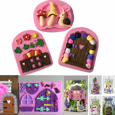 Silicone 3D DIY Fondant Mould Cake Decoration Chocolate Cutter Mold  House Door