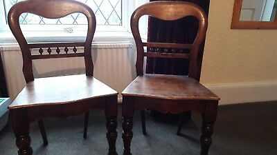 A pair of Vintage Rustic  Hall/Dining Chairs