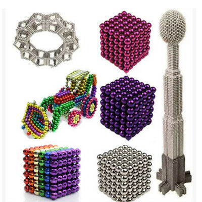 3/5mm 216Pcs Magnetic Bucky Balls Magnet Spacer Beads Cube Kids Adult DIY Toys