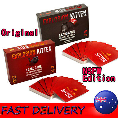 Exploding Kittens CARD GAME - ORIGINAL & NSFW Edition - Aussie Version-HOT GAME