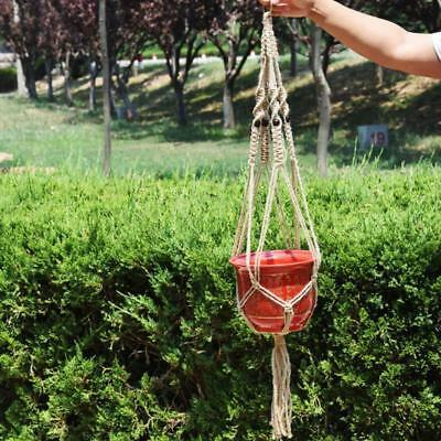 Garden Macrame Plant Pot Hanger Indoor Outdoor Ceiling Holder Hanging Baskets